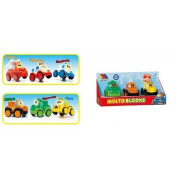 MOLTO BLOCKS SET 3 COCHES