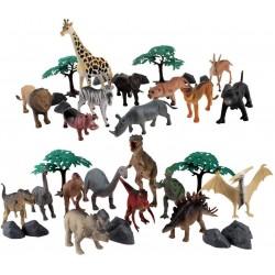 SET DE 40 PZAS. ANIMALES SALVAJES Y DINOSAURIOS