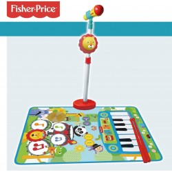 FISHER PRICE MICRO DE PIE, ALFOMBRA PIANO Y BATERIA