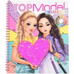 TOP MODEL LIBRO PARA COLOREAR CON LENTEJUELAS